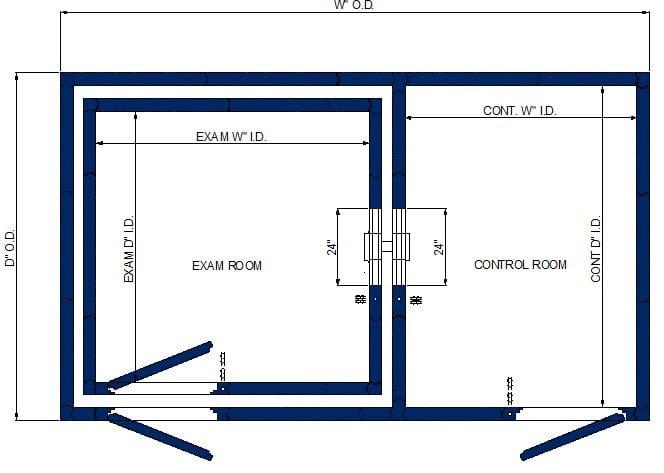 S 121-124 Single Wall Control/Double Wall Exam Spec Sheet